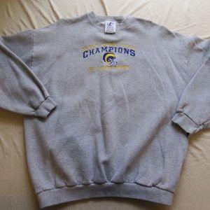Vintage St Louis Rams Super Bowl Champs Sweaters